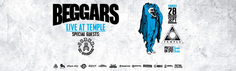 Beggars live at Temple